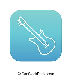 Electric guitar line icon - Electric guitar line icon for...