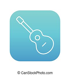 Acoustic guitar line icon - Acoustic guitar line icon for...