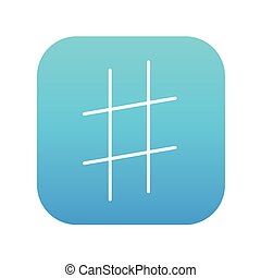 Hashtag symbol line icon - Hashtag symbol line icon for web,...