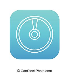 Disc line icon - Disc line icon for web, mobile and...