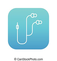 Earphone line icon - Earphone line icon for web, mobile and...