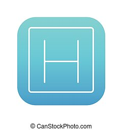 Hospital sign line icon. - Hospital sign line icon for web,...