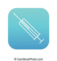 Syringe line icon - Syringe line icon for web, mobile and...