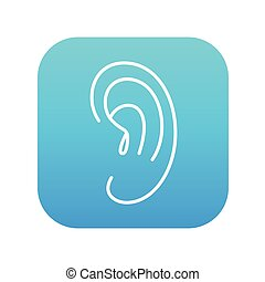 Human ear line icon - Human ear line icon for web, mobile...
