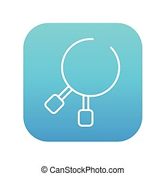 Dental pliers line icon - Dental pliers line icon for web,...