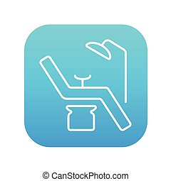 Dental chair line icon. - Dental chair line icon for web,...