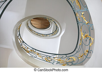 Jugendstil staircase - Beautiful european staircase in...