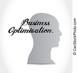 business optimization brain sign concept illustration design...