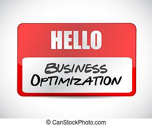 business optimization name tag sign concept illustration...