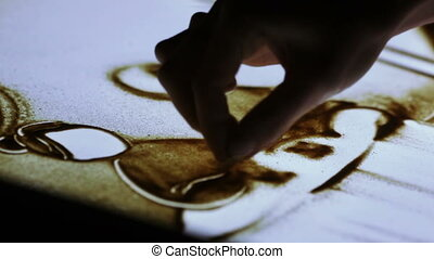 Couple, painted sand animation - Painted sand animation...