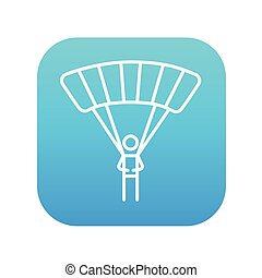 Skydiving line icon - Skydiving line icon for web, mobile...