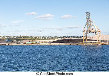 Construction Equipment by Coal Loading Operation