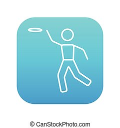 Frisbee line icon. - Frisbee line icon for web, mobile and...