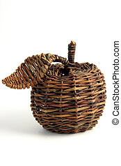 apple of handicraf - Closeup of a basket weave
