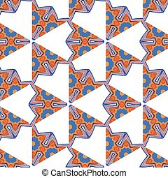 bright, attention-grabbing pattern in the sixties style -...