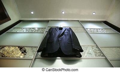 Black Men's Jacket - black  coat on a hanger