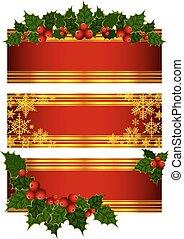 Christmas holly decoration