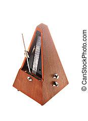 Vintage metronome - Vertical shot of a vintage metronome...