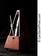 Vintage metronome - Vertical shot of a vintage metronome...