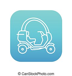 Rickshaw line icon - Rickshaw line icon for web, mobile and...