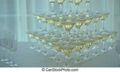 Pyramid of Champagne Glasses - pyramid of champagne glasses...