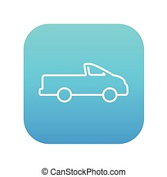 Pick up truck line icon - Pick up truck line icon for web,...