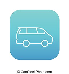 Minivan line icon - Minivan line icon for web, mobile and...