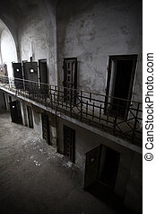 Abandoned prison - Color picture of an old abandoned prison