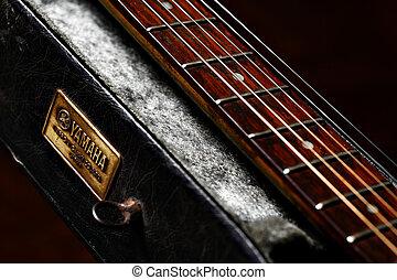 Old Yamaha guitar detail