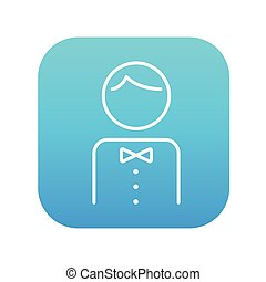 Waiter line icon. - Waiter line icon for web, mobile and...