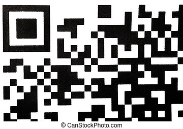 QR Code - Detail of a QR code printed on paper