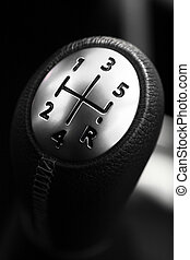 Gear stick - Detail on a gear stick in a new car