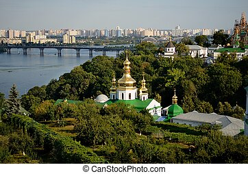 Kiev-Pechersk Lavra - View from the hill on Kiev-Pechersk...