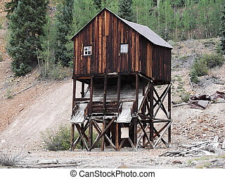 Old mine in Colorado Rockies