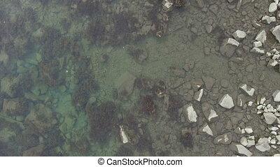 sea shore, aerial video
