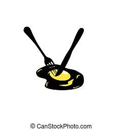 egg vector in yellow
