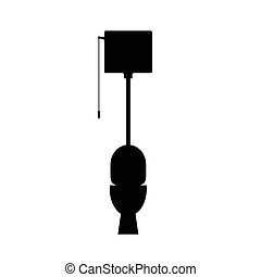 toilet vector black silhouette