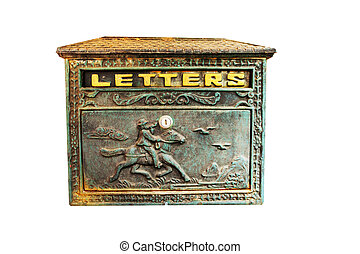letter box cowboy with clipping path .