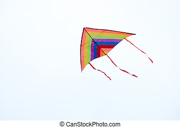 delta kite in flying - colorful delta kite in action in the...