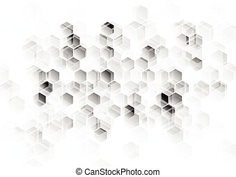 Abstract light grey tech background. Vector design