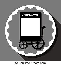 Pop corn food stand graphic design, vector illustration