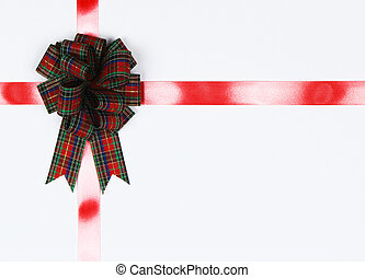 bow isolated on white with copy space