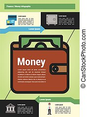 Detail modern Money infographic