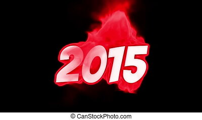 2015 text on fire word in fire high turbulence Text in...