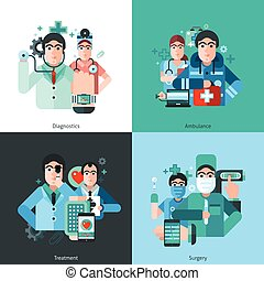 Doctor Character 2x2 Images - mall posters set with doctor...
