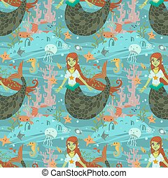 Mermaid pattern.