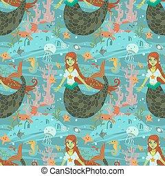 Mermaid pattern.
