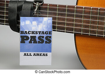 Backstage Pass - For the stage area you only get a backstage...