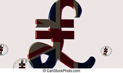 dollar euro pound and yen - 3d depiction of world major...
