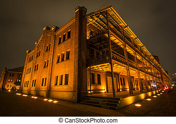 Old brick building - Panoramic and perspective view of old...